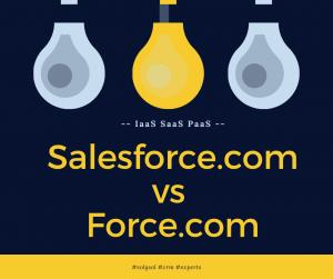 force.com and Salesforce.com